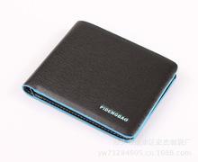 SALE High Quality PU Leather Men Wallet Short Paragraph Designer Brand Men Wallets Fashion Colored Border
