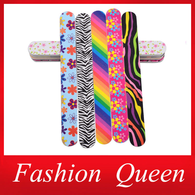 Professional Colorful Designs Nail Files Buffer,10pcs Buffing ...