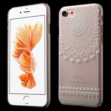 for iPhone 7 4.7 inch Hard Mobile Phone Bag Plastic Translucent Phone Cases for iPhone 7 4.7 inch Cover – Characteristic Flower
