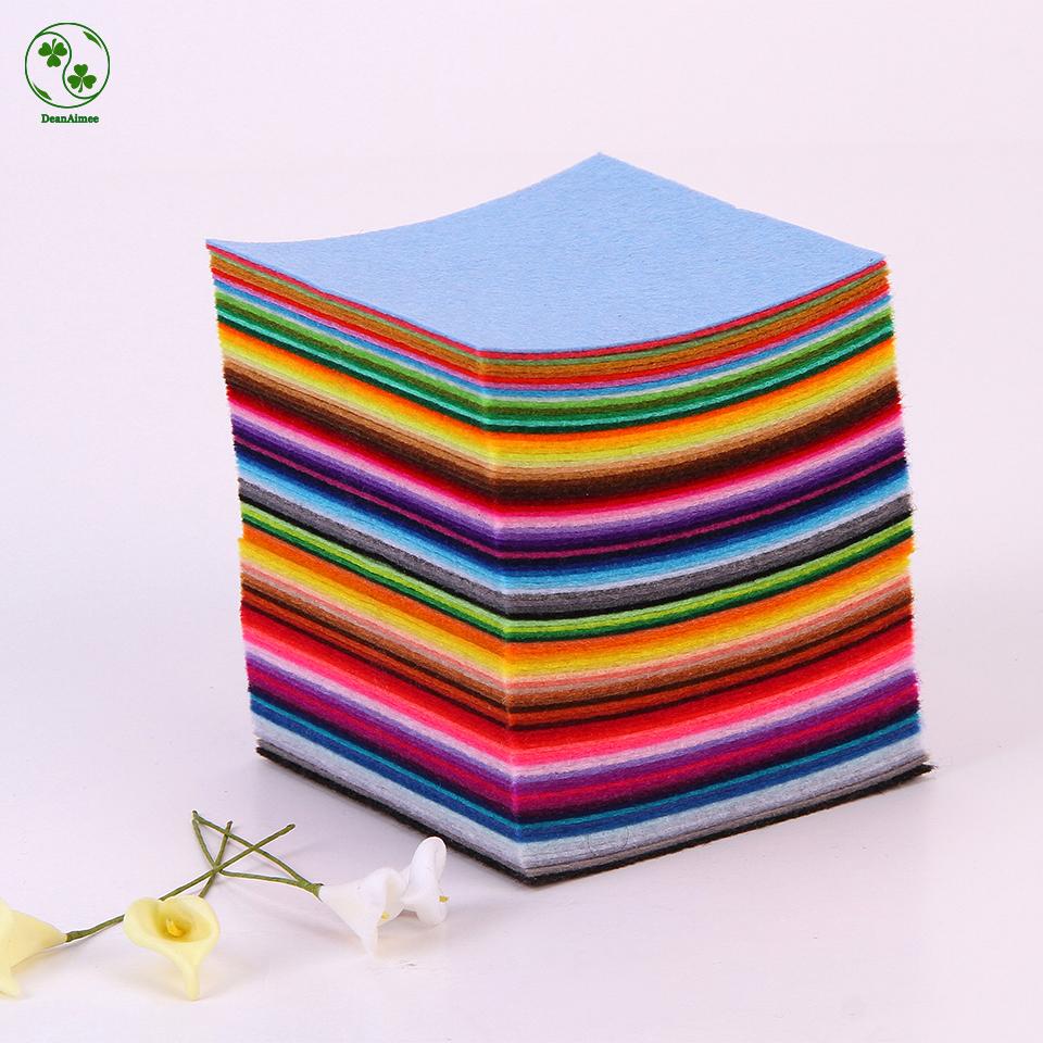 88 Colors/Lot Diy Non-Woven Felt Fabric,Cloth Felts,Feltro Polyester Acrylic Nonwoven Fabrics 10 X 10CM(China (Mainland))