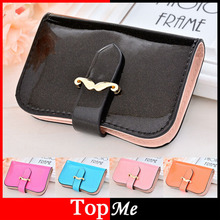 Buy Brand Women Cards Holder Lady Business Credit Bank Card ID Holders PU Leather Hasp Moustache Clutch Woman Card Case Wallet Purse for $3.95 in AliExpress store