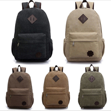 New Arrived Men's Swagger Bag Vintage Canvas Backpack Rucksack Laptop Shoulder Bag Men Travel Bags Camping Backpack