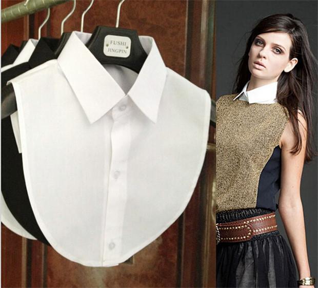 Hot Sale ! Clothes Accessories false collar white & black blouse detachable collars(China (Mainland))
