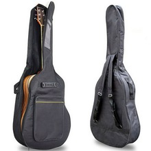 "40"" 41"" Waterproof Guitar Gig Backpack Bag Electric Guitar Gig Bag Cotton Padded Black Guitar Case With Shoulder Straps Pocket(China (Mainland))"