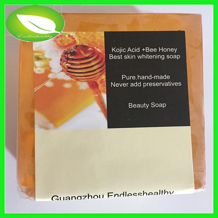 100g kojic acid whitening soap bee honey skin beauty hot selling free shipping skin white soap(China (Mainland))