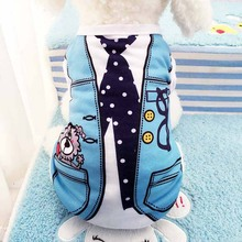 Buy Summer Dog Casual Coat Cotton Pet Puppy Dog Clothes Fake Strap Small Dog Shirt Vest Blue Pink Dogs Clothing Chihuahua Costume for $4.59 in AliExpress store