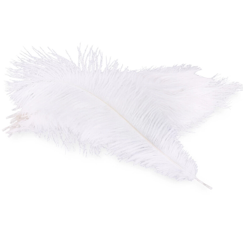 "Brand Feather#5pcs White Ostrich Feather 45-50cm /18""-20"" Wedding Birthday Christmas Decorations Hard rod Ostrich Feathers(China (Mainland))"