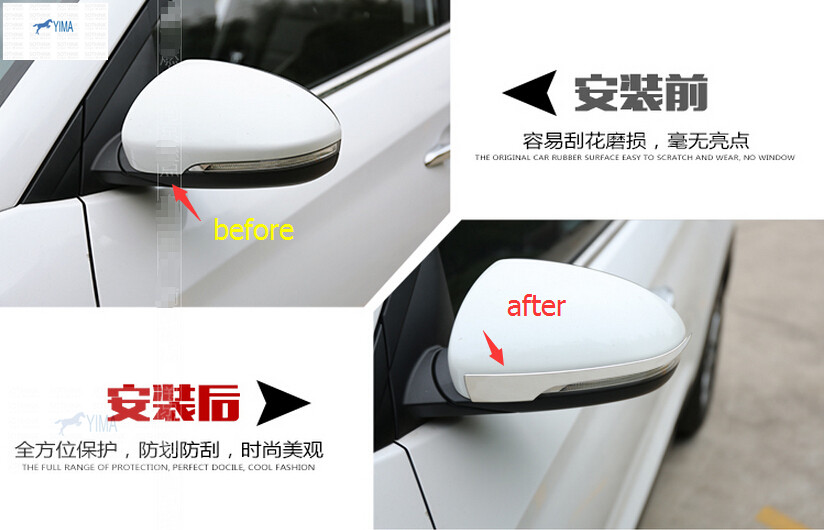 New fashion For Hyundai Tucson 2016 stainless steel Rearview Mirrors Strip Cover Trim<br><br>Aliexpress