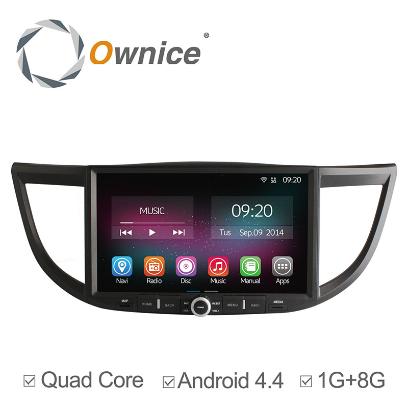 "Ownice 10.2"" RAM 1G ROM 8GB Quad Core Car Multimedia Video Player Android GPS Navigation without DVD For Honda CR-V 2012-2014(China (Mainland))"