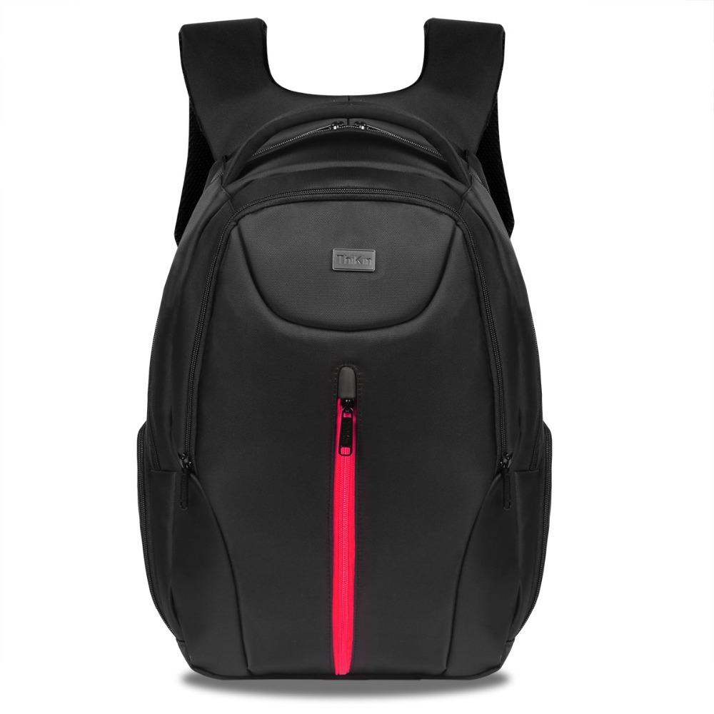 Black 14Inch Laptop Backpack Men Large Capacity Daypack Outdoor Business Computer Rucksack Waterproof School Bags for Teenagers(China (Mainland))