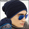 2016 ski Beanies of head cap season with velvet increasing outdoor hat winter men Knitted cap