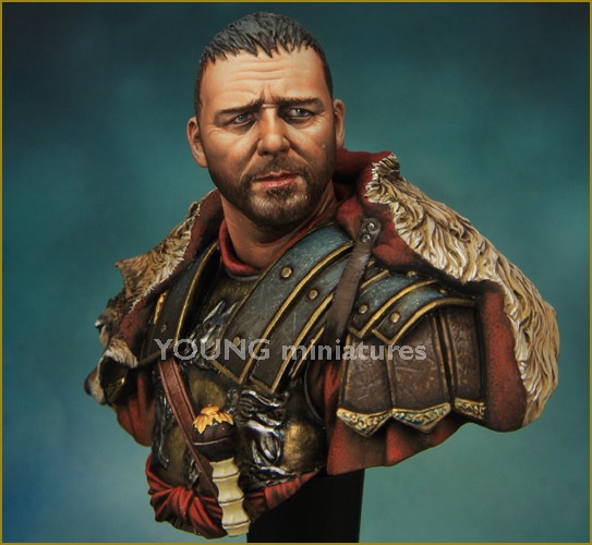 YOUNG MINIATURES 1/10 Maximus Roman General Bust Resin Models Free Shipping(China (Mainland))