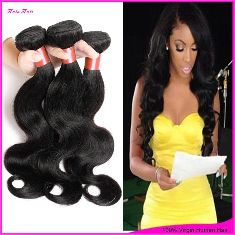 Vip Beauty Hair Cheap 7a Unprocessed brazillian virgin hair body wave 3pcs 100% brazilian human hair weave Bundles full cuticle(China (Mainland))