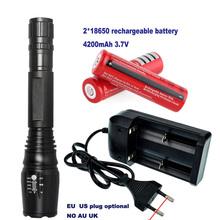 LED Flashlight E17 2000 Lumens 10W CREE XM-L T6 Lamp Zoomable LED Light Tactical Torch High Power Light 5-mode Strobe SOS 18650