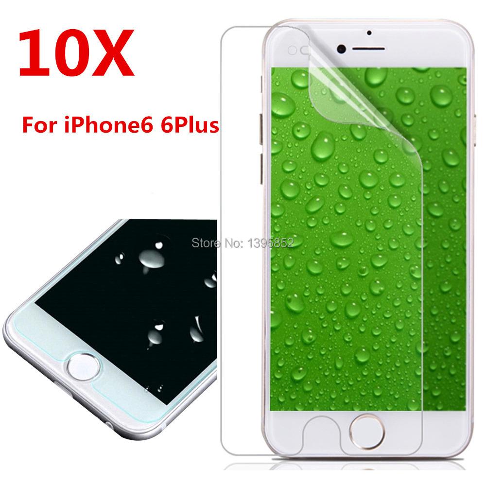 10Pcs/ lots 0.2 mm front HD High Clear Screen Protector for iPhone 6 6S 4.7 Inch clear screen protective film screen guard(China (Mainland))