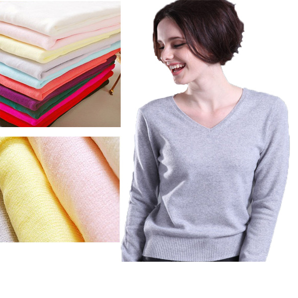 New Women Cashmere Sweater V Neck Branch Classic Pattern Pure Color Design Pullover Primer Shirt Plus Size XL Christmas Y03130(China (Mainland))