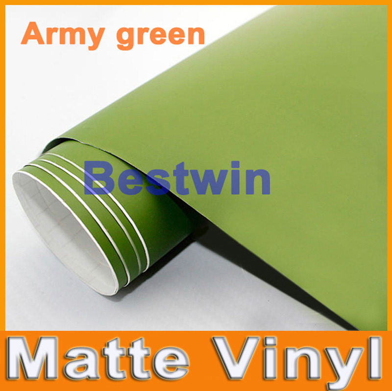 Free shipping car styling 1.52x30m high quality matte vinyl car wrap film car sticker with bubble free a lot colour(China (Mainland))