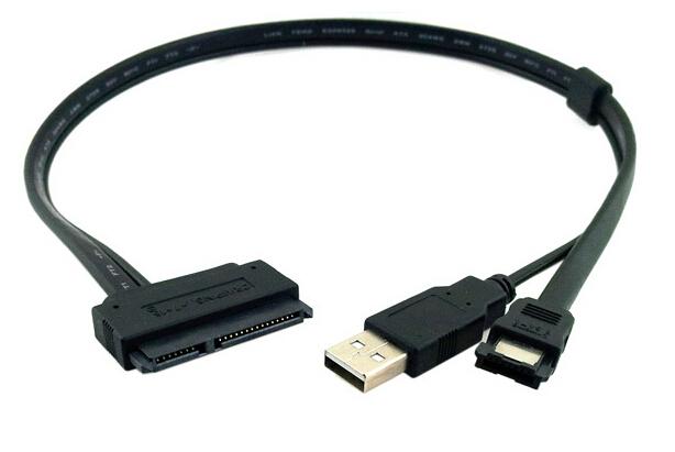 "Laptop 2.5"" Hard Drive 7+15 Pin 22P SATA to eSATA DATA Sync W/ USB Powered Cable(China (Mainland))"