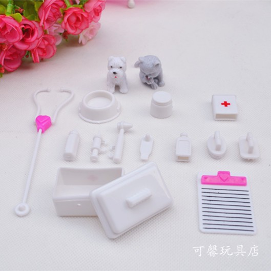 One Set Doll Equipment Doll Home Ornament Toy medical equipment Provides Doll Pet Toys For barbie doll,Child Toys for ladies