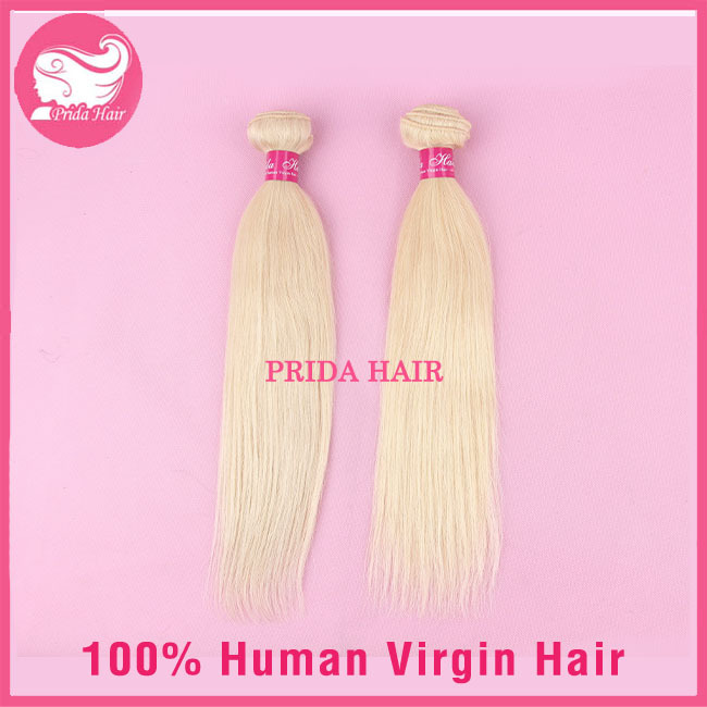 613 Brazilian Hair Bundles 2pcs Platinum Blonde Brazilian Hair Weave Silky Straight Unprocessed Human Virgin 613 Hair Extensions