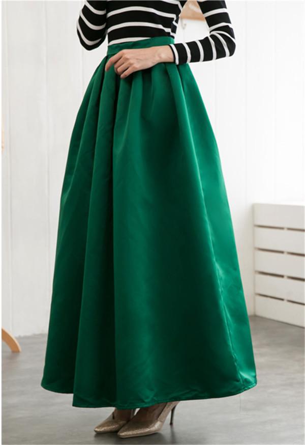 New Fashion 2015 green Women Skirts Summer Spring Female Vintage ...