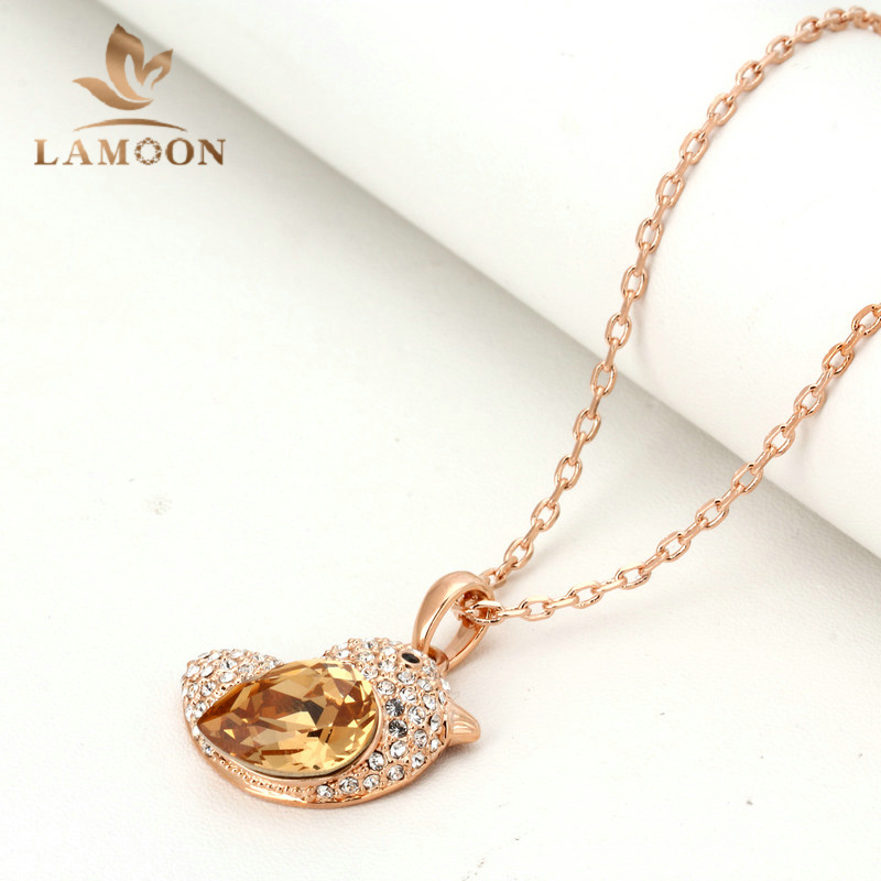 Top Quality N053 Orange Fat Bird Necklace Rose Gold Color Fashion Jewellery Nickel Free Pendant Crystal(China (Mainland))