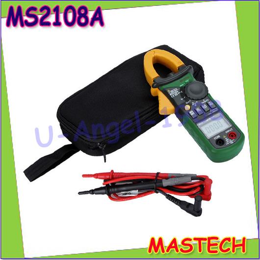 Гаджет  1pcs Mastech MS2108A Digital Clamp Multimeter Frequency Max./Min.Value Measurement Holding Lighting Bulb wholesale free shipping None Инструменты