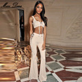 2016 New lace up Beige Strap Sleeveless Bodycon Elegant Chic Sexy Cocktail Party Women Two