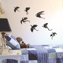 Buy 7pcs/set Halloween Fantasy Decor Dinosaurs Boys Rooms Game of Thrones 3D Dragons Wall Art Decals Wall Stickers for $1.26 in AliExpress store