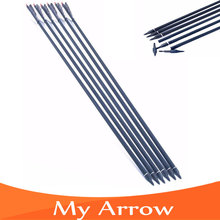 6pcs lot Changeable Arrowhead 30 Carbon Archery Bow Arrows Spine 500 Professional Hunting Shooting Practice Bow