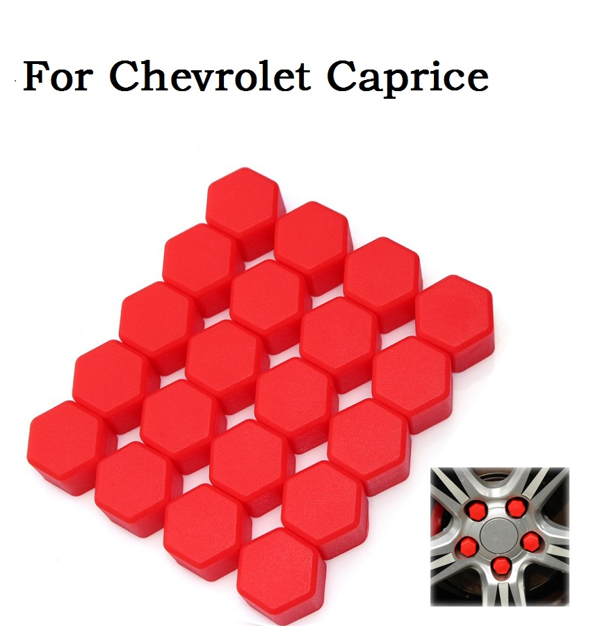2016 Newest silica gel Wheel hub nut screw cap for Chevrolet Caprice auto parts wheel screw cover(Red)(China (Mainland))