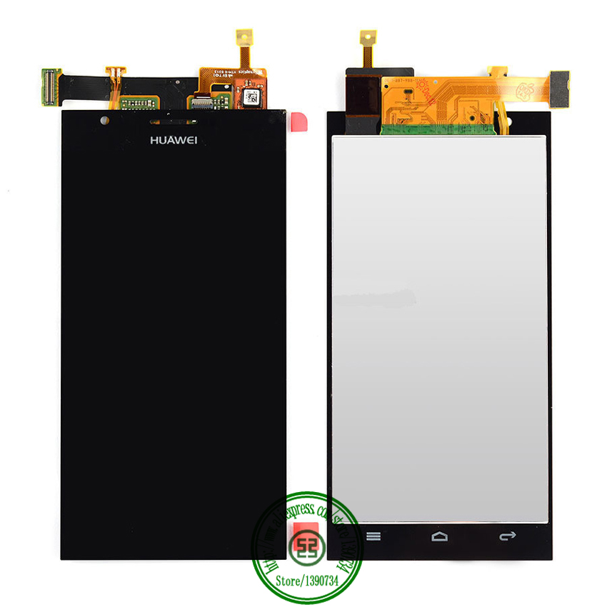 100% GOOD WORKING Black Full LCD Display Touch Screen Digitzer Assembly For Huawei Ascend P2 Replacement Parts Free shipping
