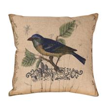 Cartoon Birds Linen Sofa Cushion Cover