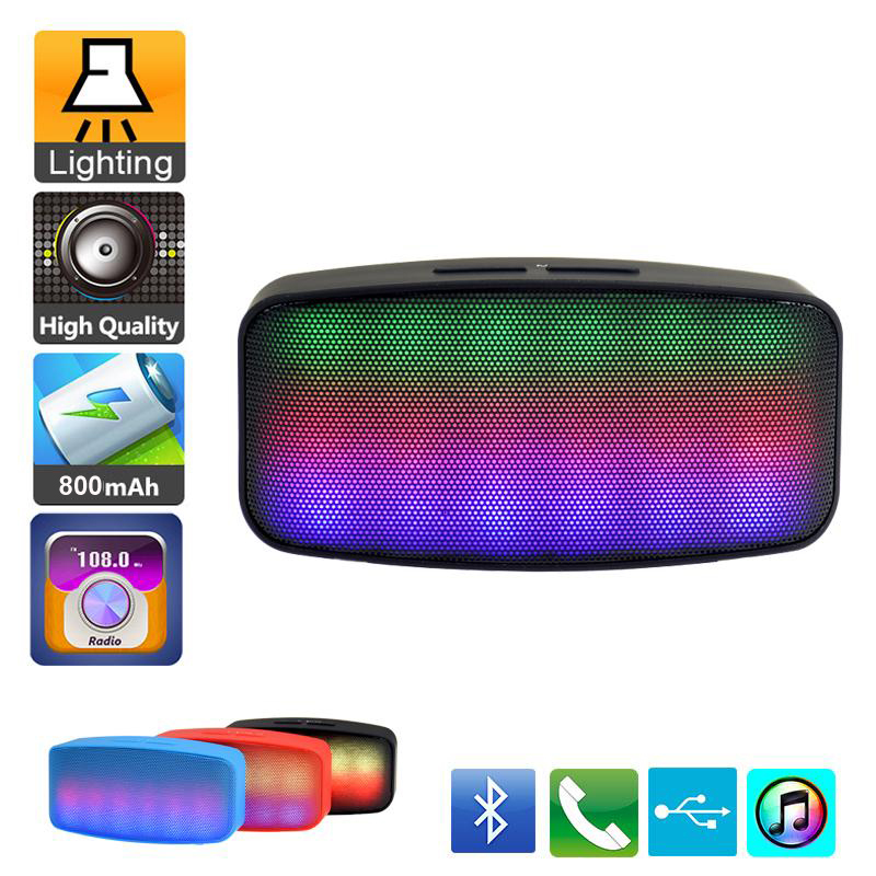 Hot Portable Colorful Bluetooth Speaker 2.1 Wireless Bluetooth Speaker Suport USB TF Card Built-In FM Radio(China (Mainland))
