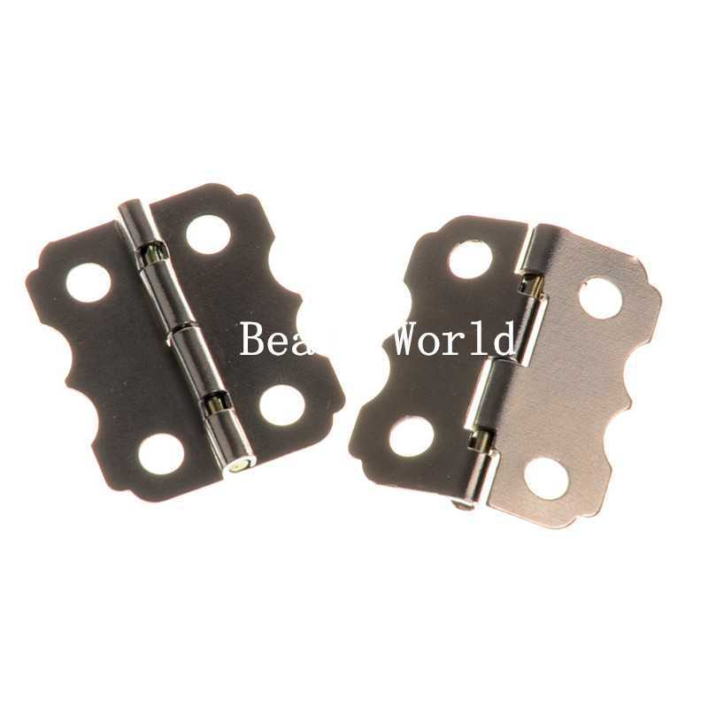 50 Silver Tone Door Butt Hinges 4 Holes (rotated from 90 to 210 degrees) 24x20mm(W04380 X 1)<br><br>Aliexpress