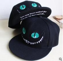 2016 Newest Fashion Unisex  Alice in Wonderland Pattern Cat Cartoon Cotton Baseball Cap Hiphop Hat Cap