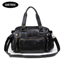 New Fashion Men's Travel Bags Vintage PU Leather Shoulder Bag Men Messenger Bags(China (Mainland))