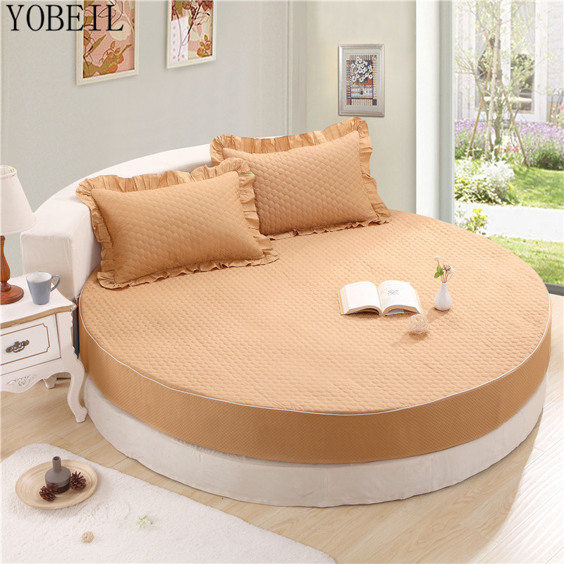 Bedding Set Cotton round bed Li pure cotton thick single piece of cotton bedding for round bed 2meters 2.2 meters MAAT-0003(China (Mainland))