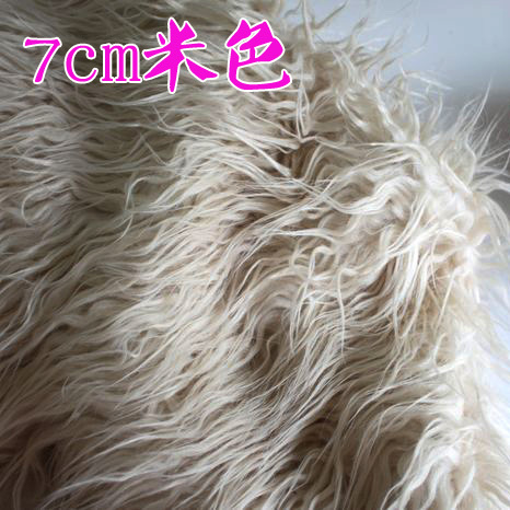 Fell into the pile of half a meter price 7cm beige flannel cloth material Leather grass clothing counter photographed background(China (Mainland))