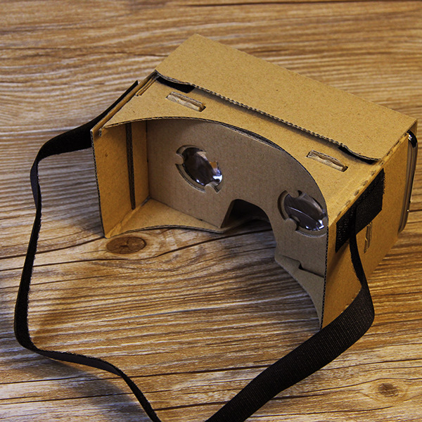 Hot VR Cardboard Google Virtual Reality 3D Glasses Box DVD Watch Movies Mobile Phone 6.0 Screen 3d-glass free NFC Tag Headstrap(China (Mainland))