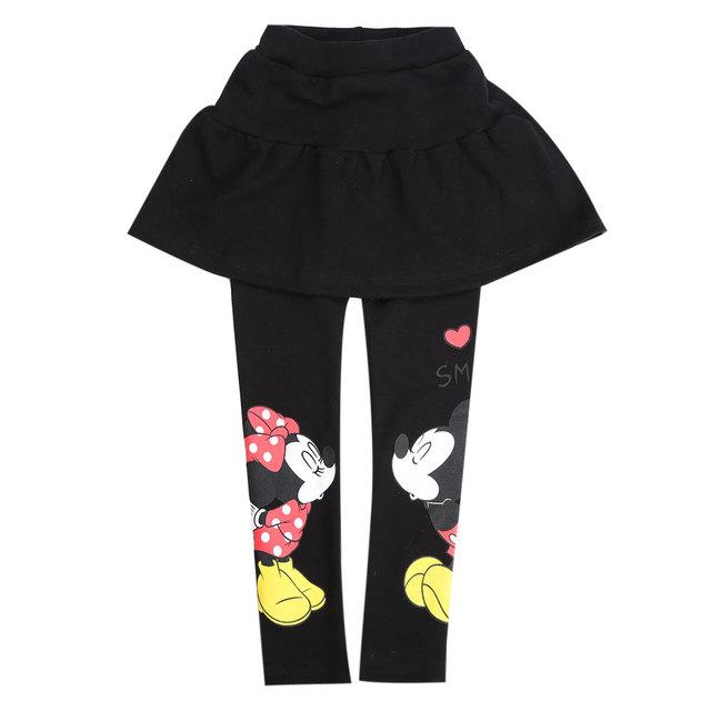 Минни маус микки штаны 2015 новая детская мода юбки-брюки для девочек хлопка свободного покроя pantskirt девушка брюки