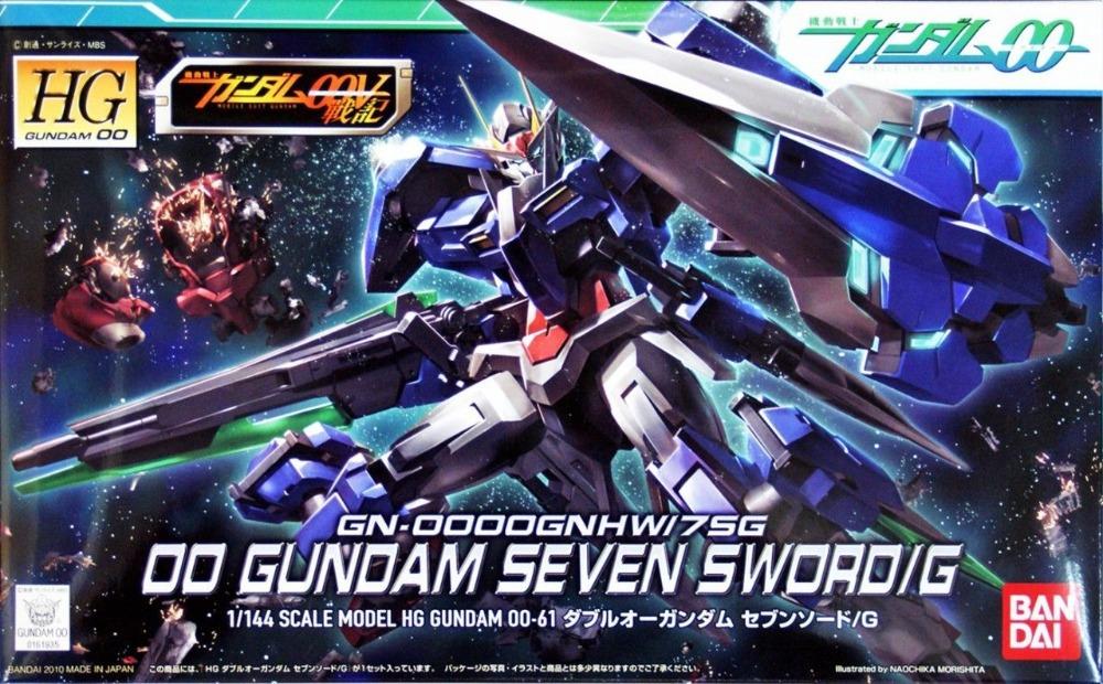 Bandai Gundam 1/144 HG High Grade #61 00 Gundam Seven Sword/G GN-OOOOGNHW/7SG Model Kit Free Shipping #61935(China (Mainland))
