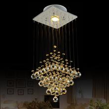 Modern Chandelier Cryatal Lamp Lustres de cristais  Amber lustres modernos china  Luminaire For  Entrance way,Aisle ,Corridor(China (Mainland))