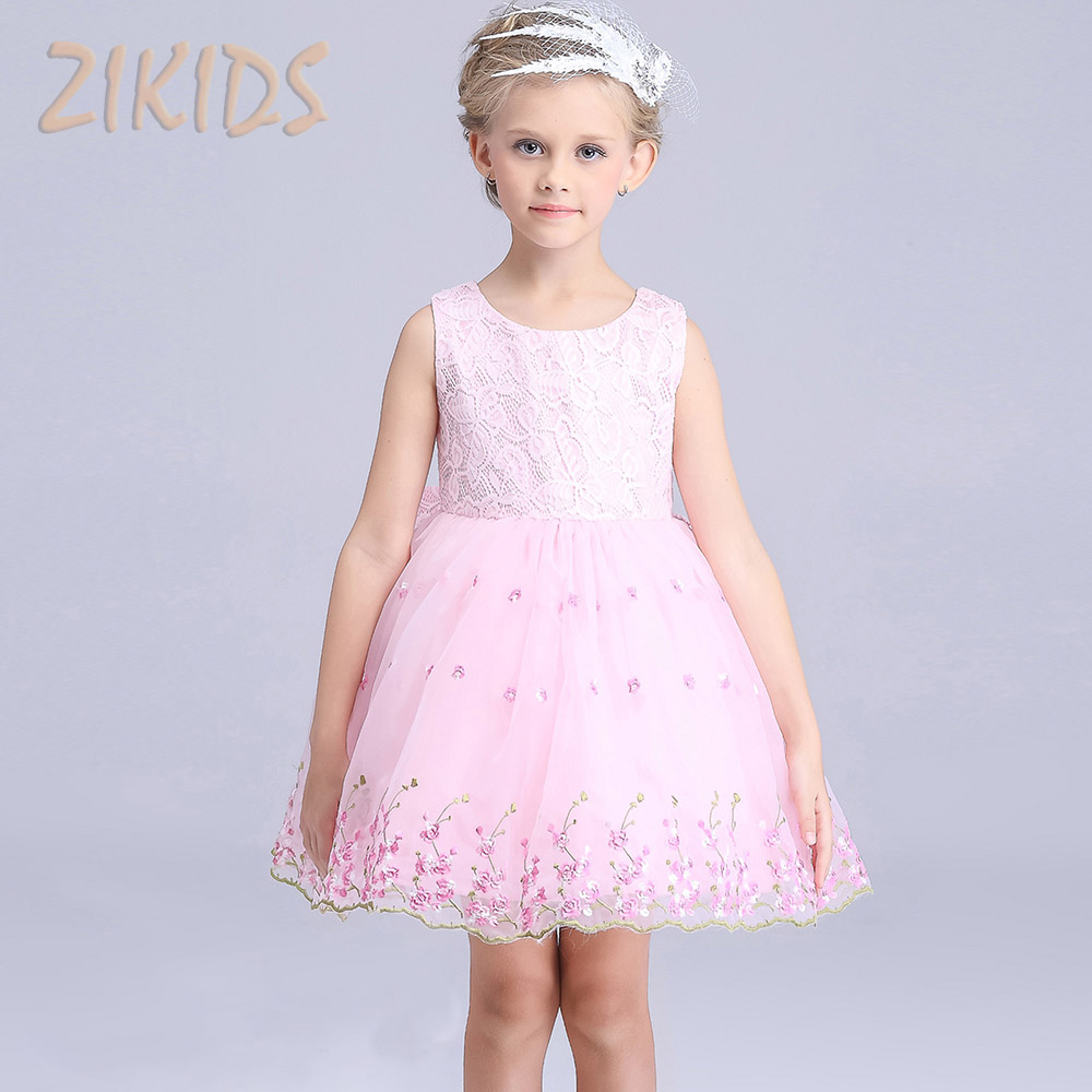 Baby Girl Dress Summer Dresses Girls Flowers Clothing Princess Dress Casual Lace Child Brand Costume Wedding Party Birthday 2016(China (Mainland))