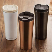 Hot Sale Double Wall Stainless Steel Coffee Thermos Cups Mugs Thermal Bottle 500 ml Thermocup Fashion Tumbler Vacuum Flask(China (Mainland))