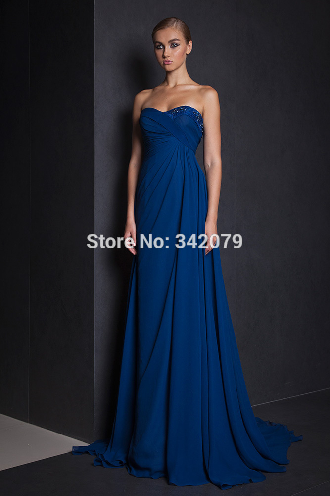 Ph11244 tony ward 2015 sweetheart shaped strapless for Midnight blue wedding dress