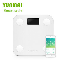 Free Shipping 2015 YUNMAI M1501 mini health electronic scales, smart APP Fat Percentage Digital Body Fat Weighing Scale