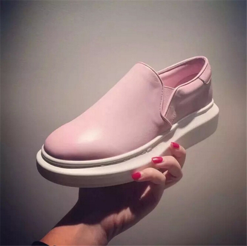 women creepers slip-on flat-platforms shoes black shoes zapatos mujer casual loafers slip-on Platform thick sole shoes<br><br>Aliexpress