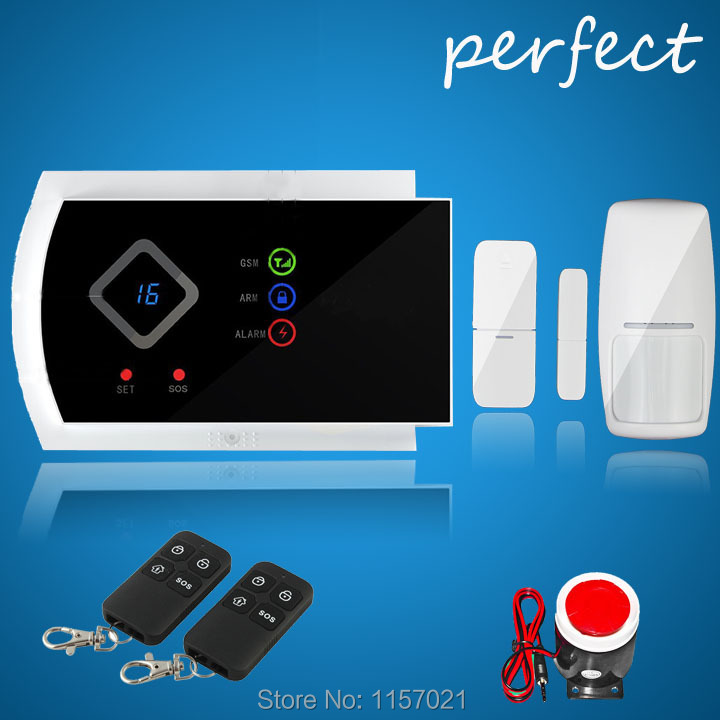 product Voice Prompt ~ Wireless Home Intelligent Burglar GSM Alarm System Security Home Alarm 850/900/1800/1900Mhz support app function