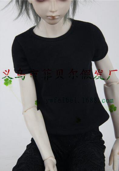 BJD Doll SD DZ DOD doll 1/3 clothes Sexy Girl/Boy women/men Black/Red colors T-Shirt Heart Printed Panties(China (Mainland))